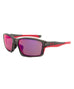 Oakley OO9252-08 Asian Fit Chainlink Polarized Sunglasses | Grey Smoke Frame | Red Iridium Lens
