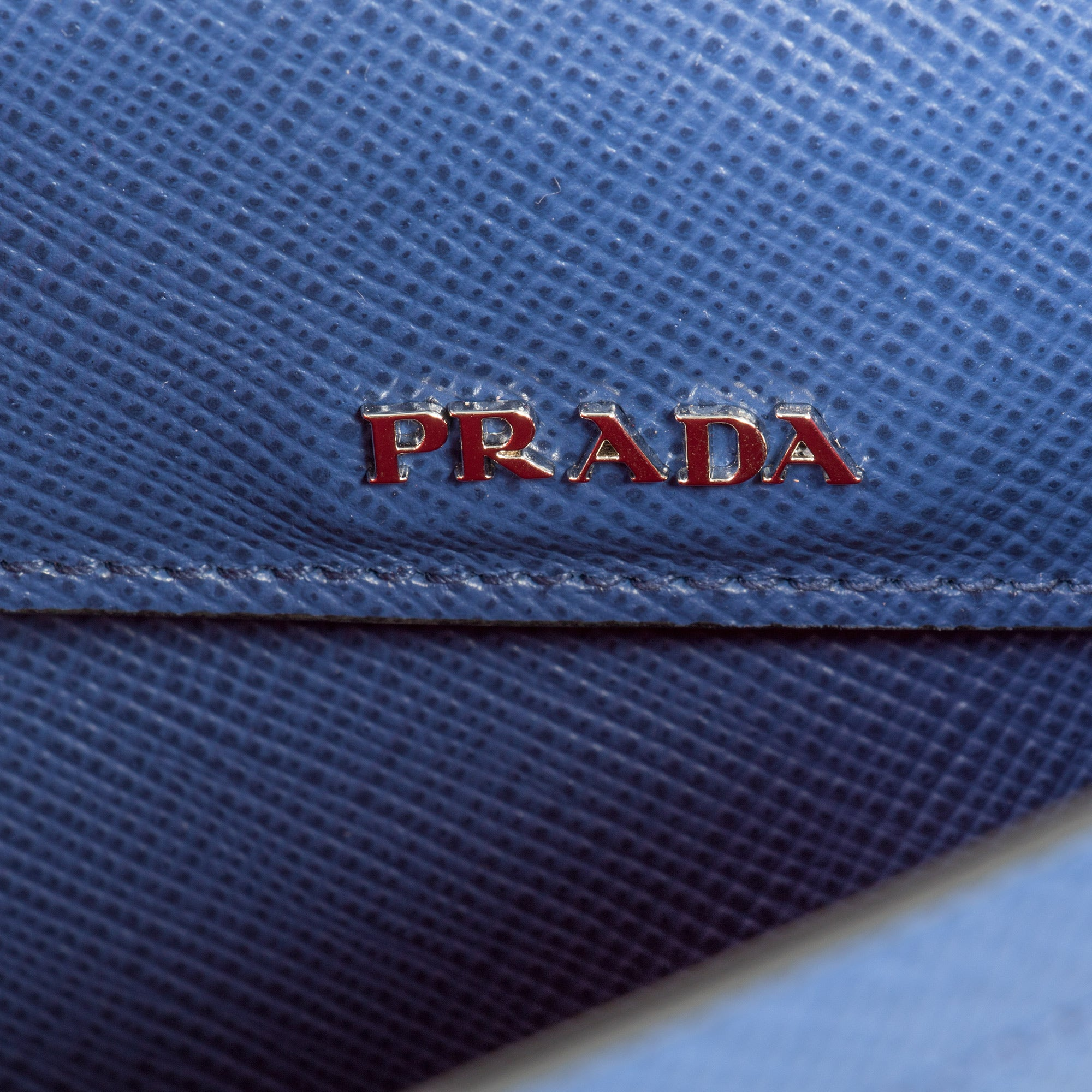 Prada Double Tote Leather Bag 1BG883 F0021 | Inchiostro/Ink Blue | Small