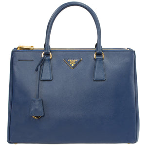 Prada Galleria Saffiano Leather Bag Model 1BA274 | Blue w/ Gold Hardware