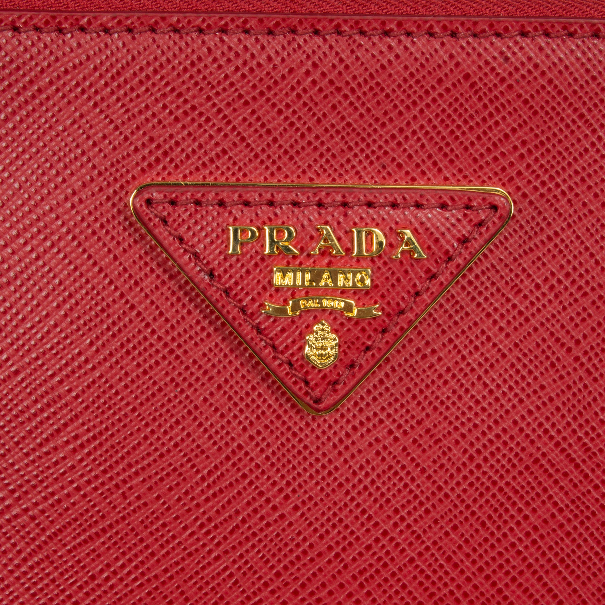Prada Galleria Saffiano Leather Bag Model 1BA274 | Red (Fuoco) with Gold Hardware