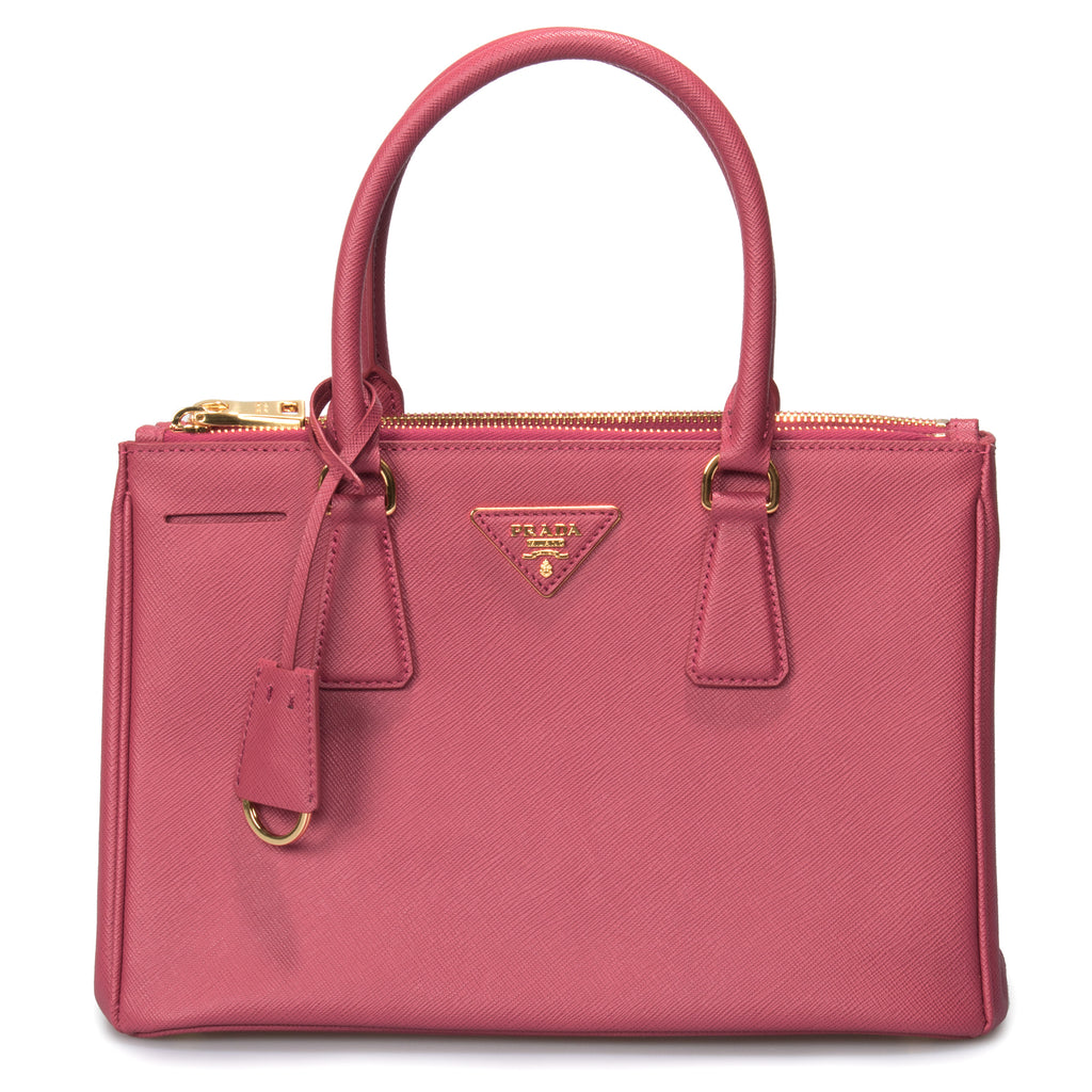 Prada Galleria Saffiano Small Leather Bag in Fuchsia