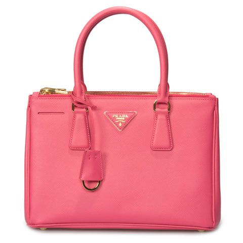 Prada Galleria Saffiano Small Leather Bag in Peony Pink