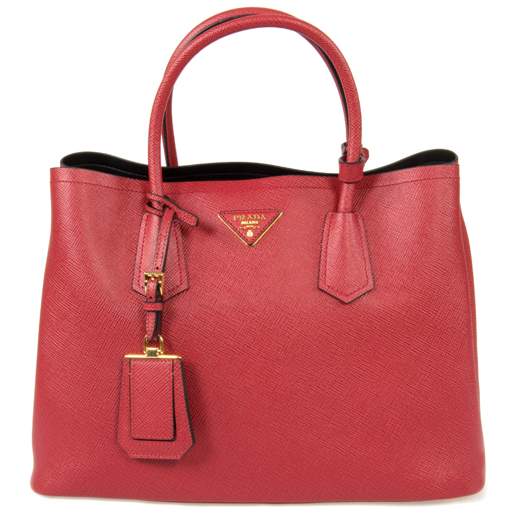 Prada Double Leather Bag Model 1BG775 F068Z | Fuoco (Red)