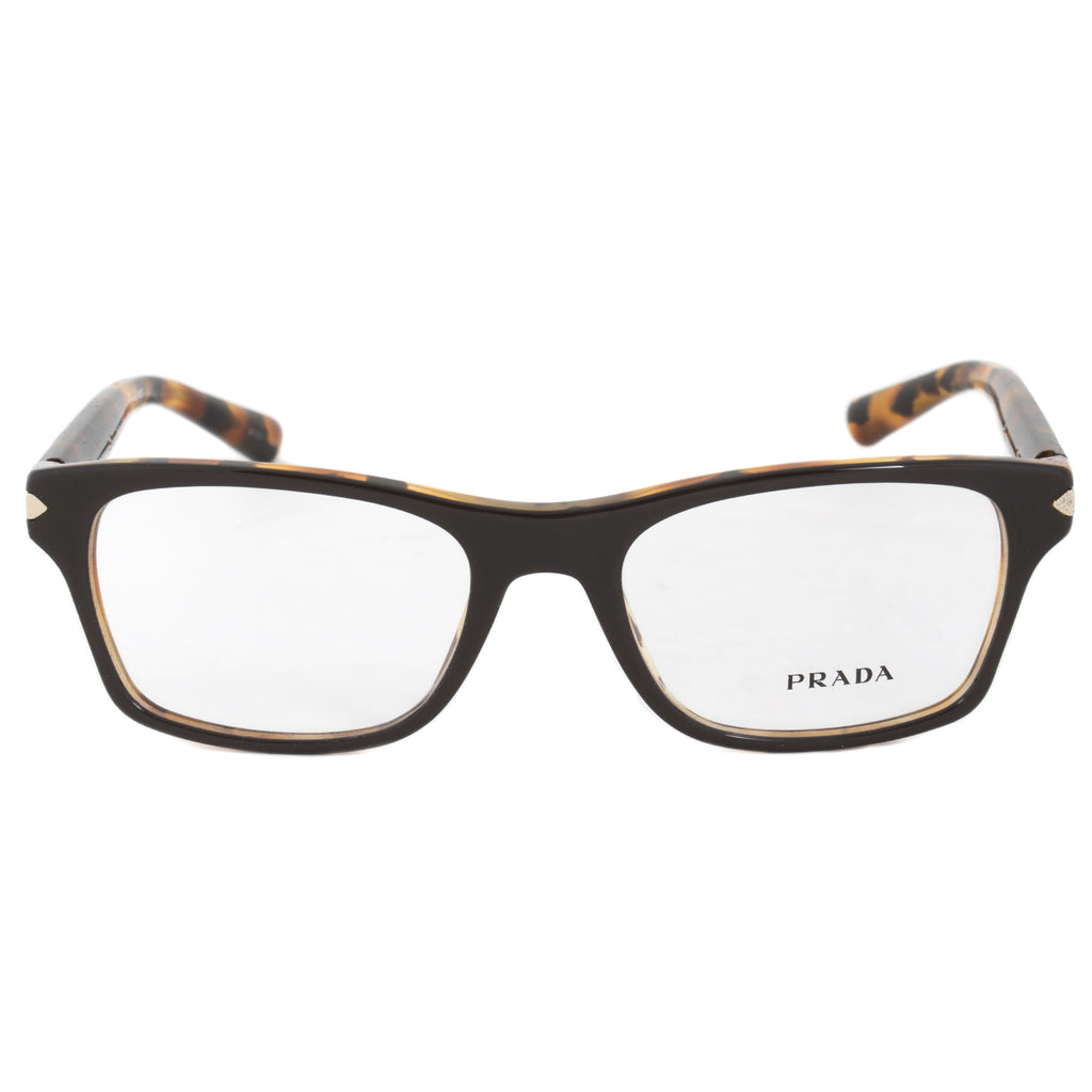 Prada PR16SV UBS1O1 Rectangular | Dark Brown/Havana| Eyeglass Frames