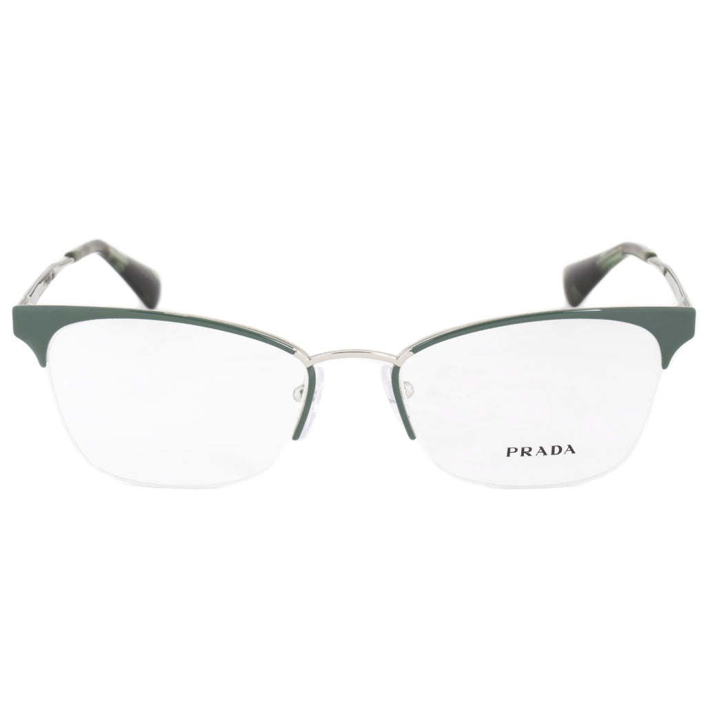 Prada PR65QV  UEI1O1  Cat Eye | Green/Silver| Eyeglass Frames