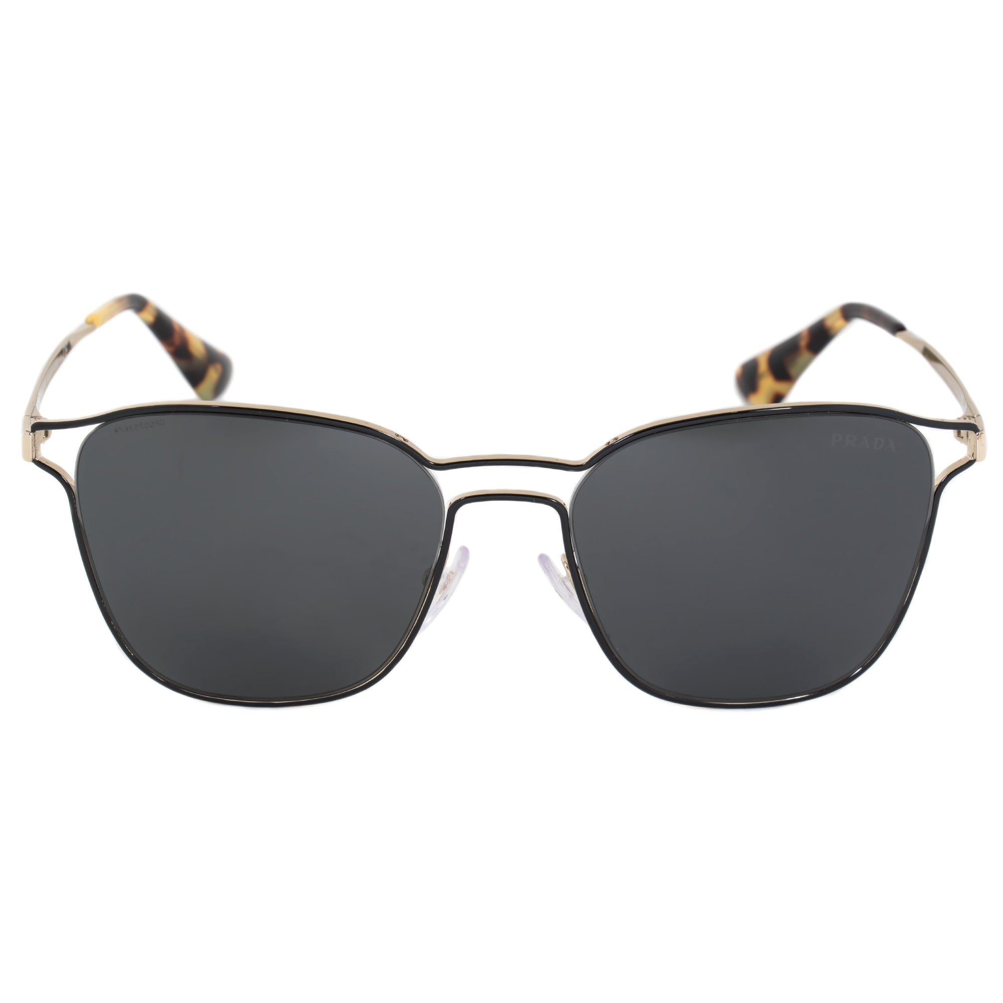 Prada Cinema Square Sunglasses PR54TS 1AB5S0 55 | Black Frame | Carbon Lenses