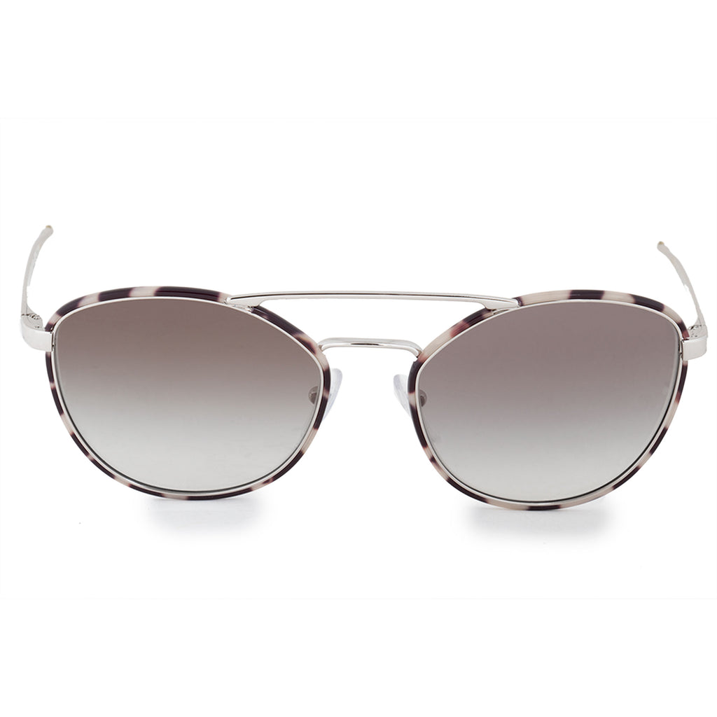 Prada Spotted Opal Brown PR63TS UAO0A7 55 Aviator Sunglasses