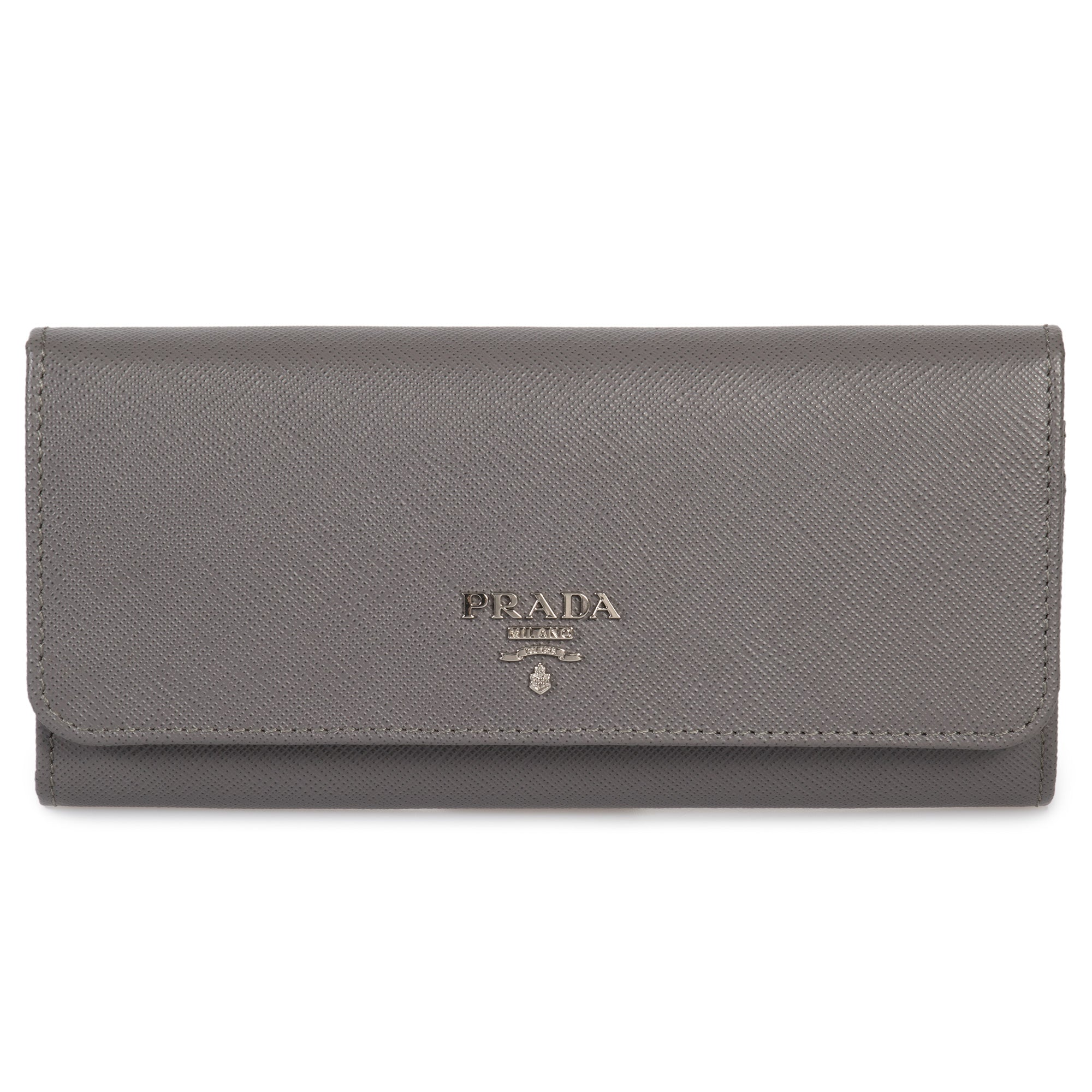Prada Marble Saffiano Leather Flap Wallet 1MH132 QWA F0K44