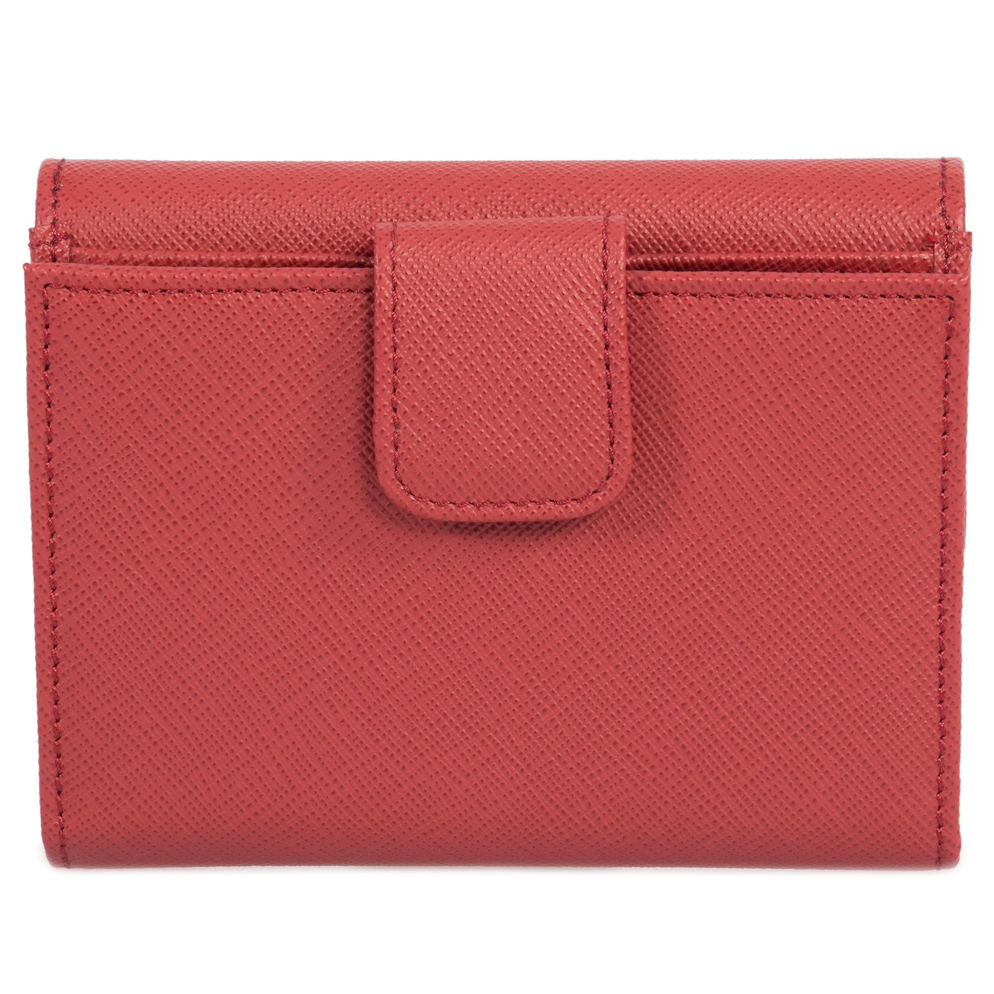 Prada Red Saffiano Leather Flap Wallet 1MH523 QWA F068Z