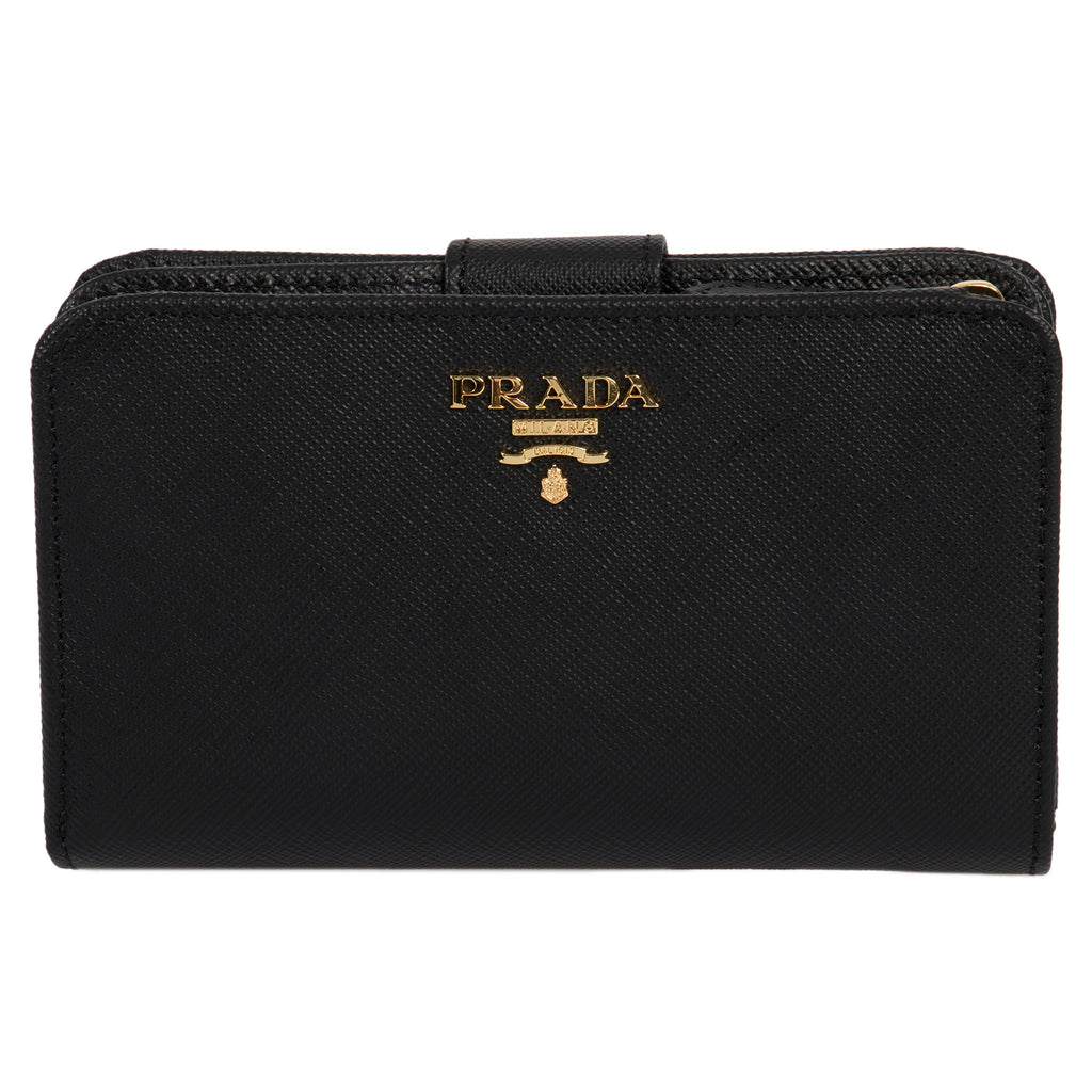 Prada Black Saffiano Leather Wallet 1ML225 QWA F0002