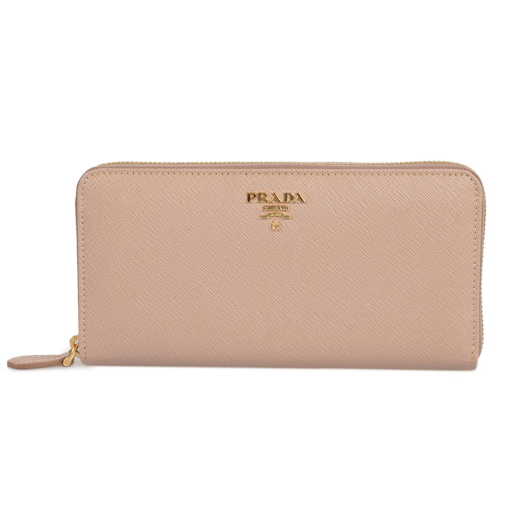 Prada Cameo Saffiano Leather Zip-Up Wallet 1ML506 QWA F0770