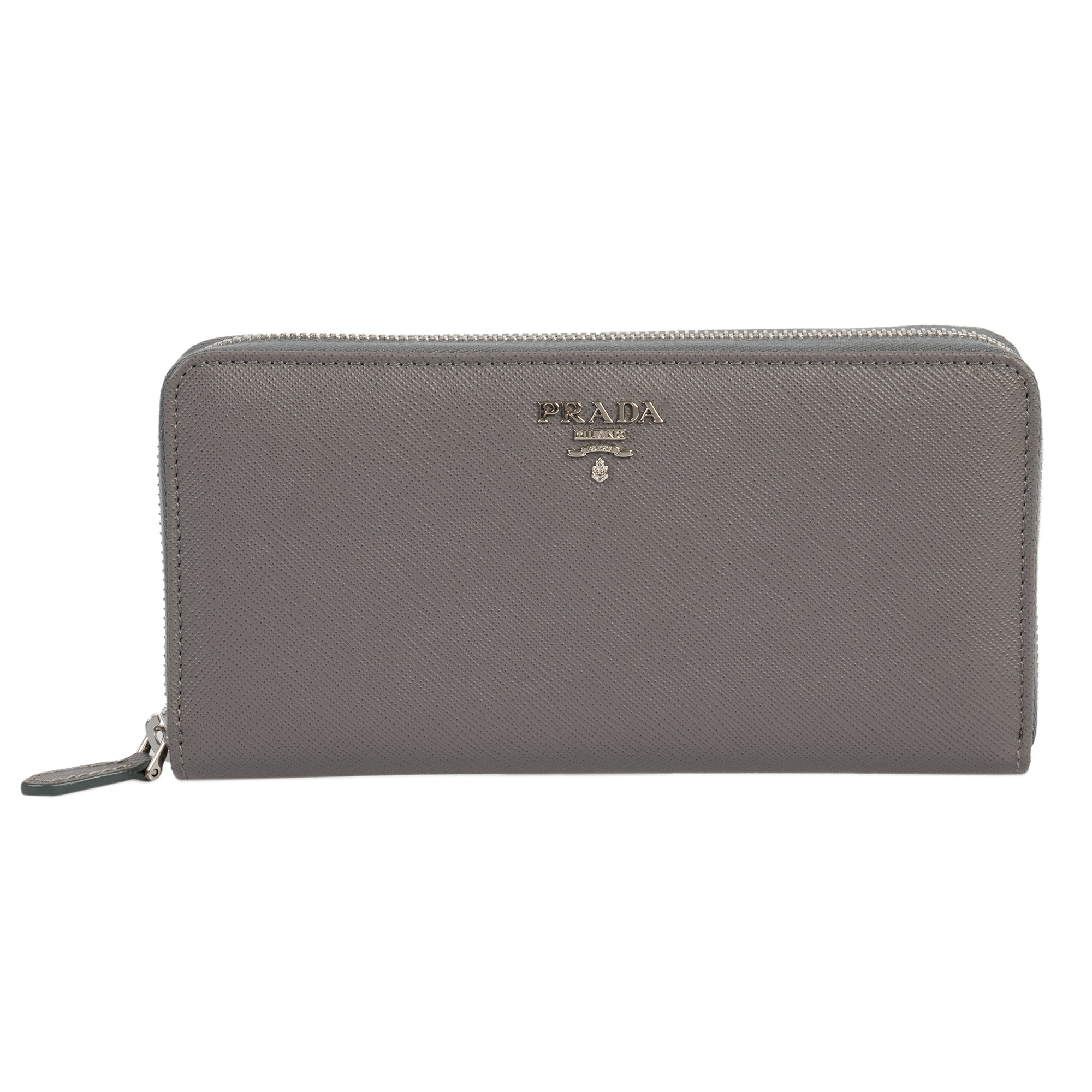 Prada Marble Saffiano Leather Zip-Up Wallet 1ML506 QWA F0K44