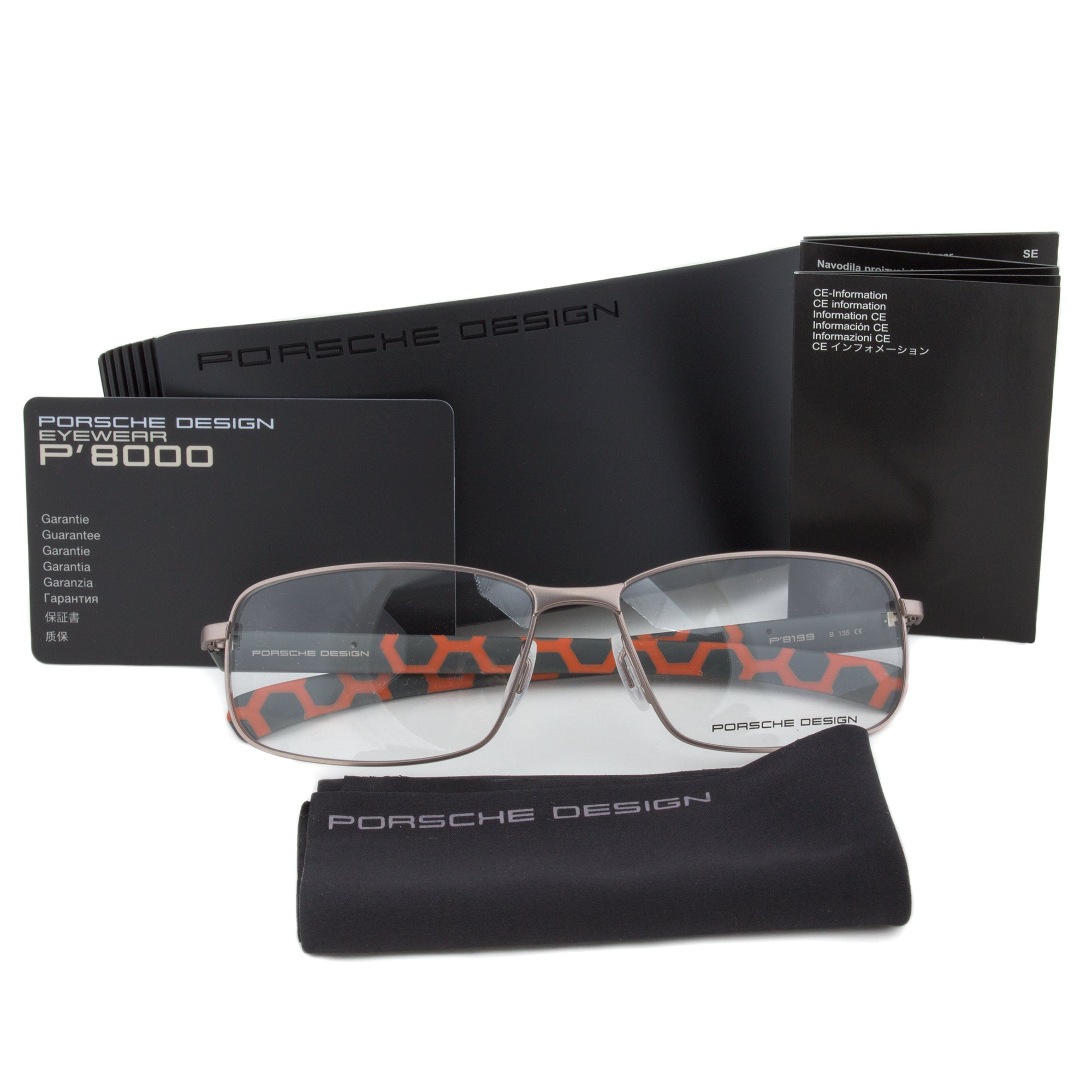 Porsche Design P8199 B Rectangular | Light Gunmetal| Eyeglass Frames