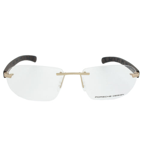 Porsche Design P8202 C Rectangular | Gold/Matte Brown| Eyeglass Frames