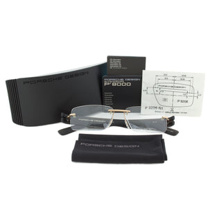 Porsche Design P8206 A Rimless | Gold/Black| Eyeglass Frames