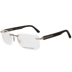 Porsche Design P8232 C Rectangular | Matte Gold Grey| Eyeglass Frames