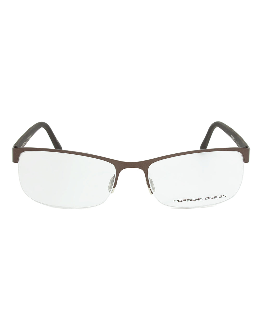 Porsche Design P8242 D Rectangular | Brown| Eyeglass Frames