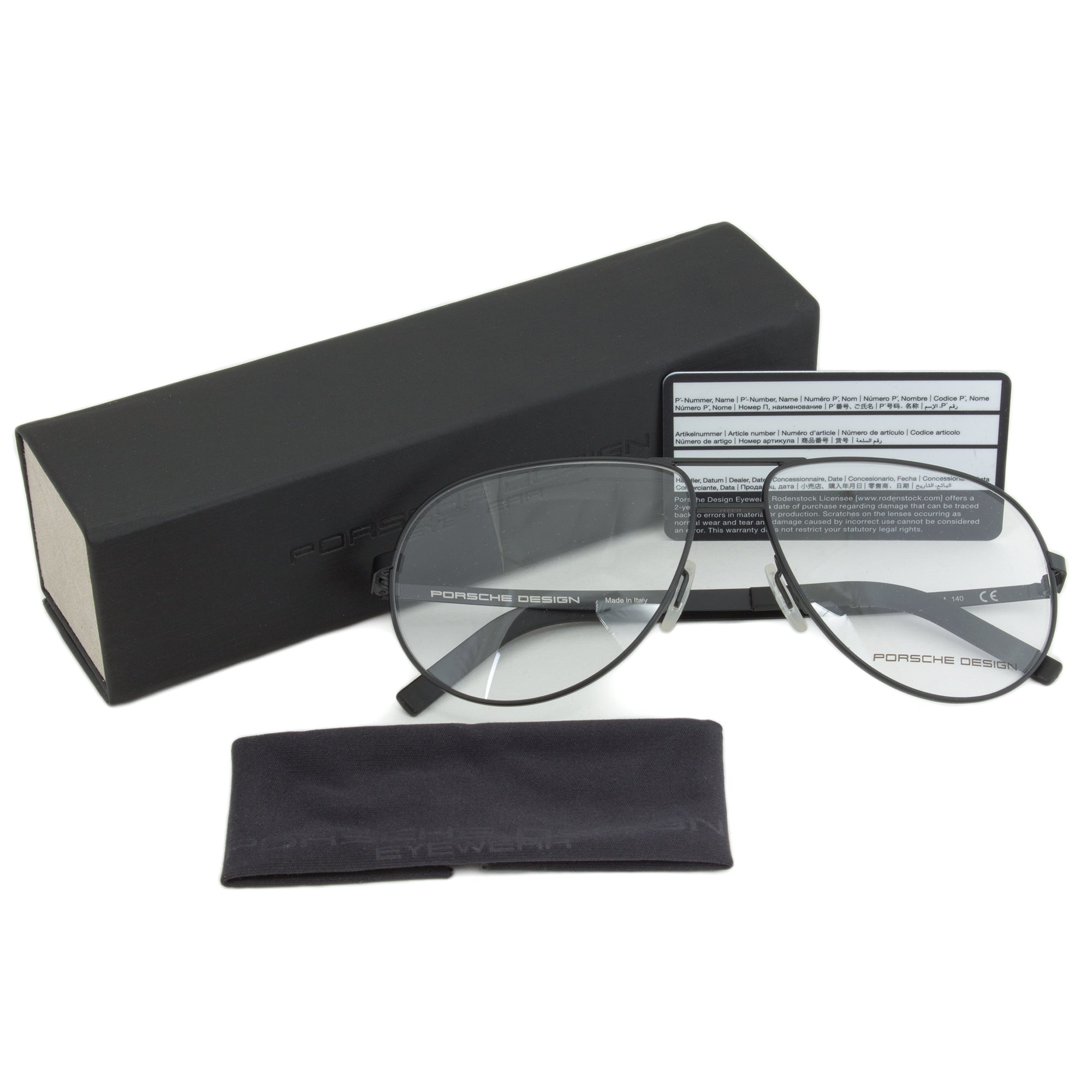 Porsche Design P8280 A Aviator | Black| Eyeglass Frames