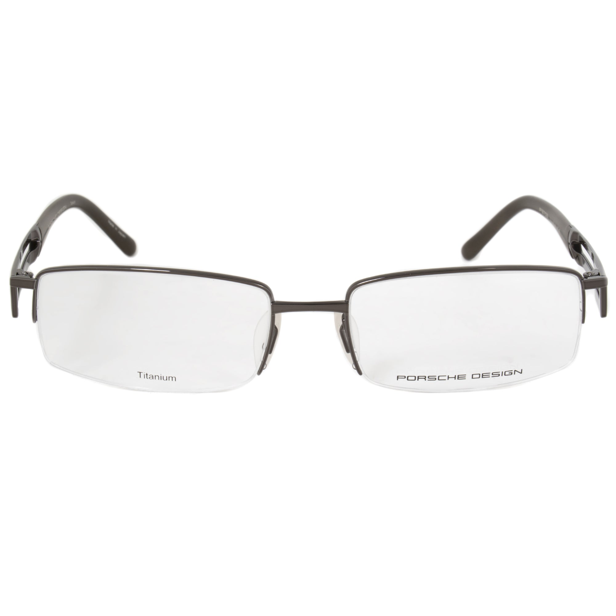 Porsche Design P8703 D Semi-Rimless Rectangle Eyeglasses for Men | Dar