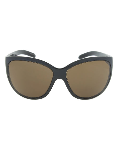 Porsche Design Design P8524 A Oval Sunglasses | Dark Brown Frame | Brown Lens