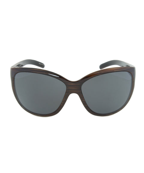 Porsche Design Design P8524 C Sunglasses | Striped Brown Frame | grey Lens