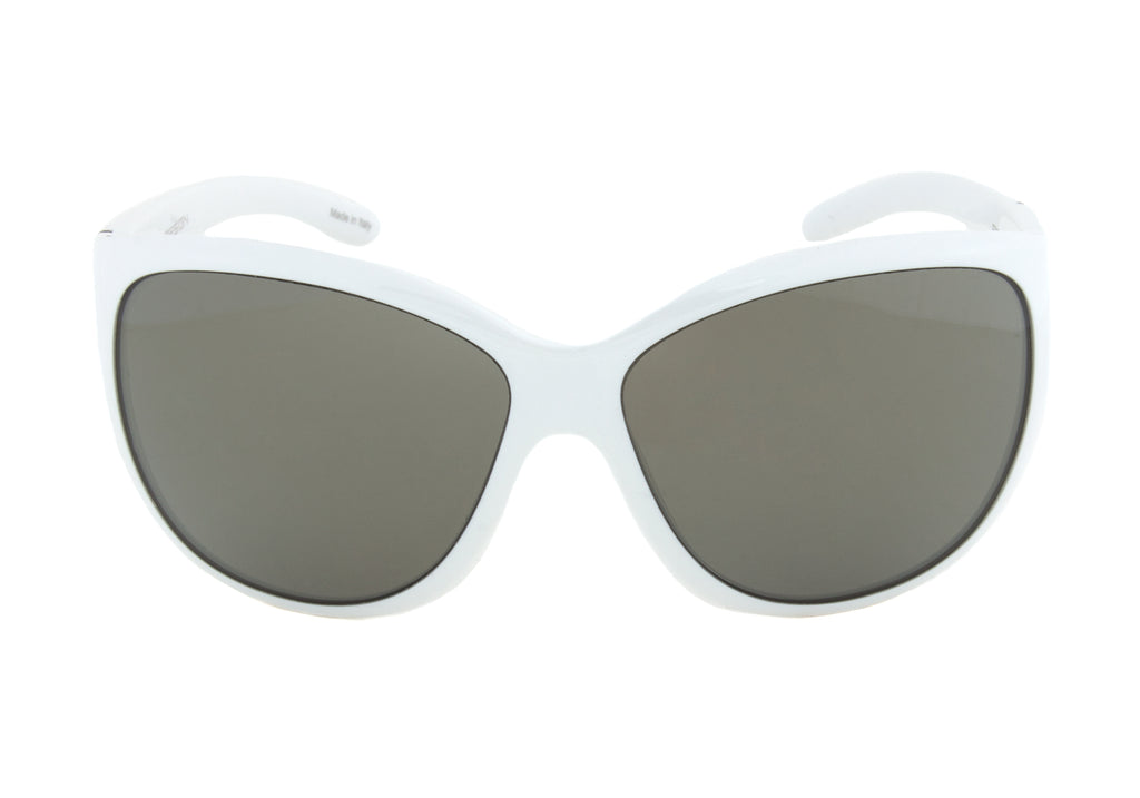Porsche Design Design P8524 D Oval Sunglasses | White Frame | grey Lens