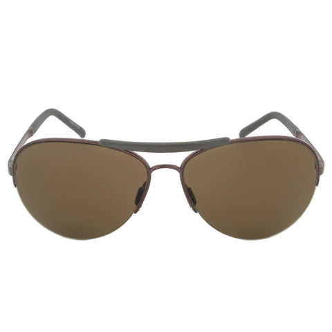 Porsche Design Design P8540 B Aviator Sunglasses | Bronze and Gunmetal Frame | Brown Lens