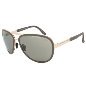 Porsche Design Design P8567 B Aviator Sunglasses | Rose Gold Frame | Brown Lens