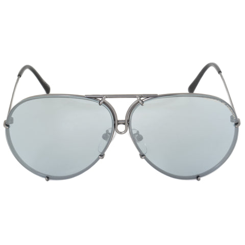 Porsche Design Aviator Sunglasses P8978 C 66 | Gunmetal Frame | Blue Mirror Lenses