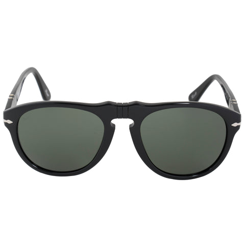 Persol Oval Sunglasses PO0649 95 31 54 | Black Frame | Grey Lenses
