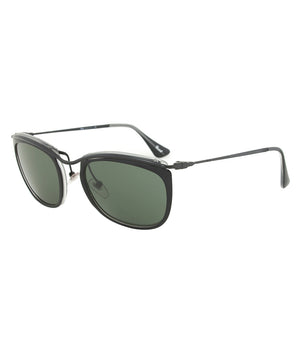 Persol PO3081S 1004/31 Sunglasses | Black and Matte Crystal Frame | Grey Lens