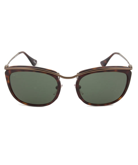 Persol PO3081S 899/31 Sunglasses | Matte Havana and Beige Frame | Grey Lens