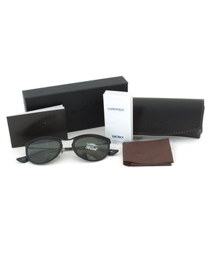 Persol PO3082S 1004/31 Sunglasses | Black and Matte Crystal Frame | Grey Lens