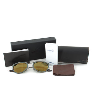 Persol PO3082S 1007/08 Sunglasses | Green and Matte Havana Frame | Green Mirror Gold Lens
