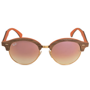 Ray-Ban Round Sunglasses RB4246M 12187O 51 | Copper Metal Frame | Copper Gradient Flash Lenses