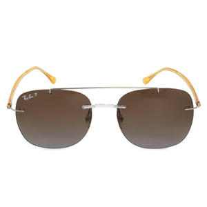 Ray-Ban Square Sunglasses RB4280 6288T5 50 | Silver Metal Frame | Polarized Brown Lenses
