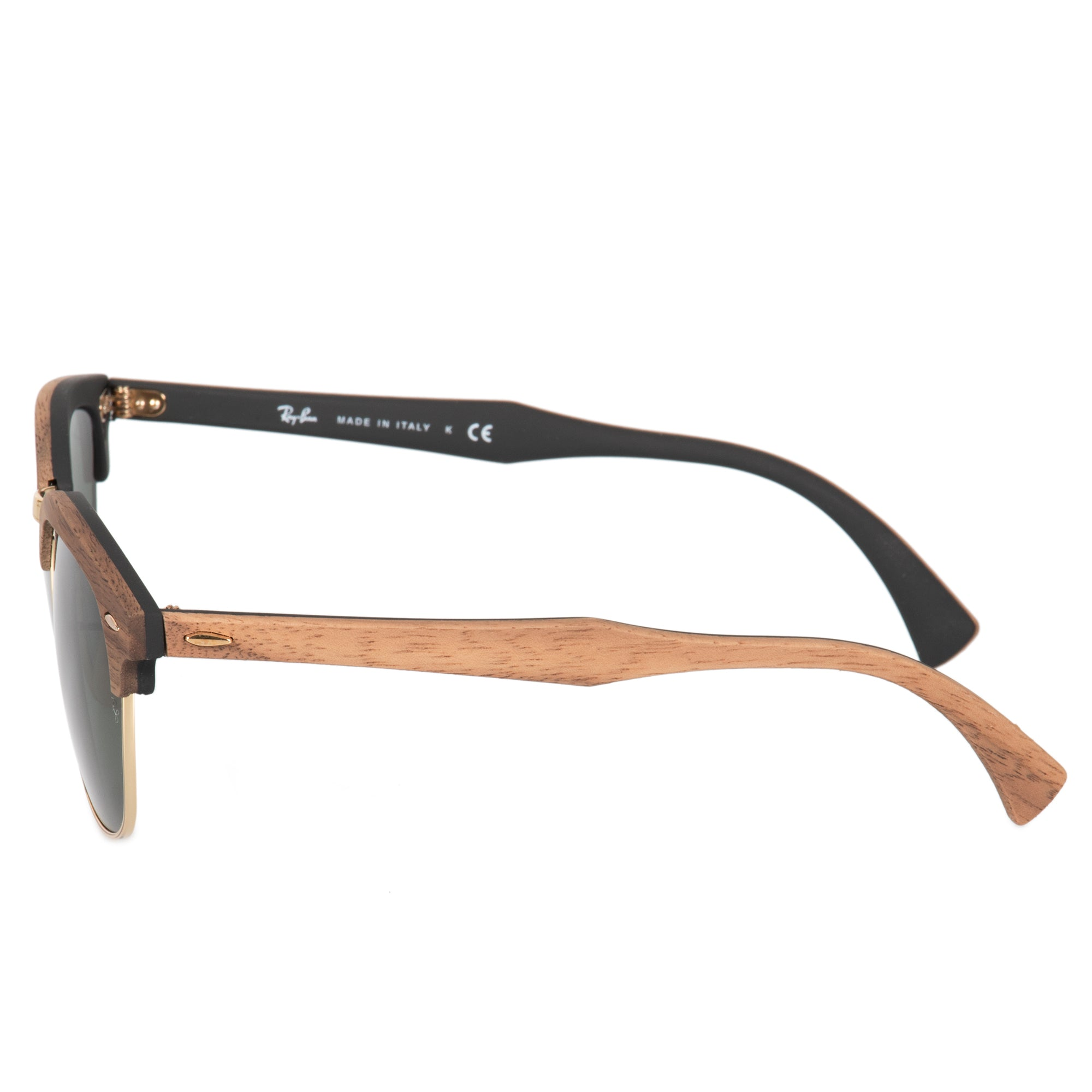 Ray-Ban Clubmaster Wood Sunglasses RB3016M 1181 51