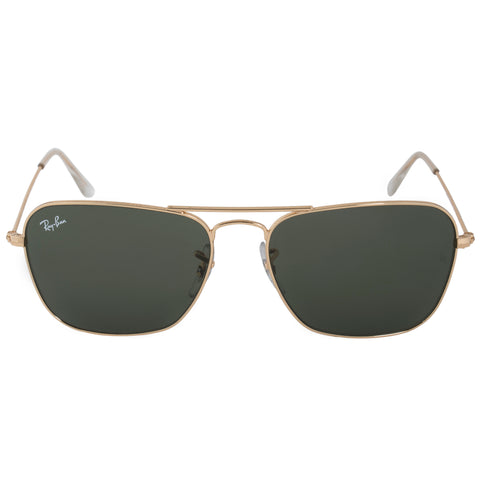 Ray-Ban Caravan Sunglasses RB3136 001 55 | Gold Frame | Green Classic G-15 Lenses