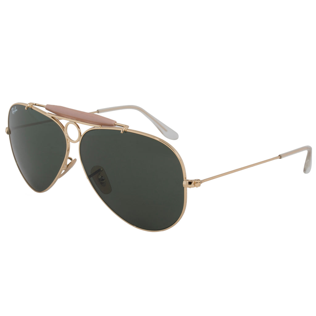 Ray-Ban Aviator Shooter Sunglasses RB3138 001 58 | Gold Frame ...