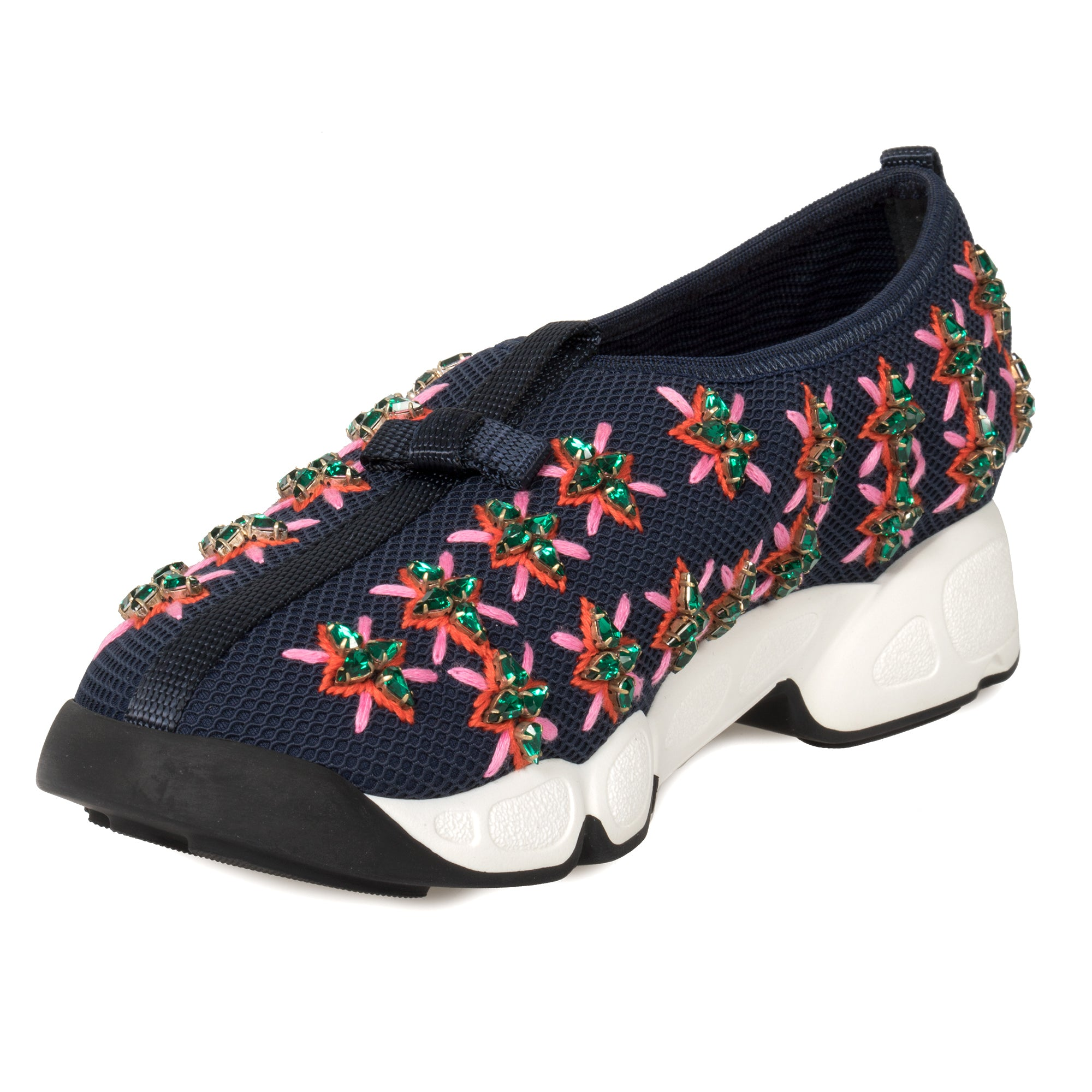 Dior Blue and Rose Flower Fusion Sneakers
