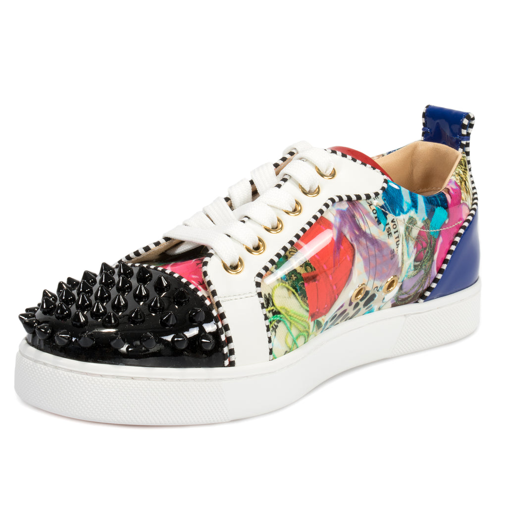 Christian Louboutin Louis Junior Spikes Multicolored Flat
