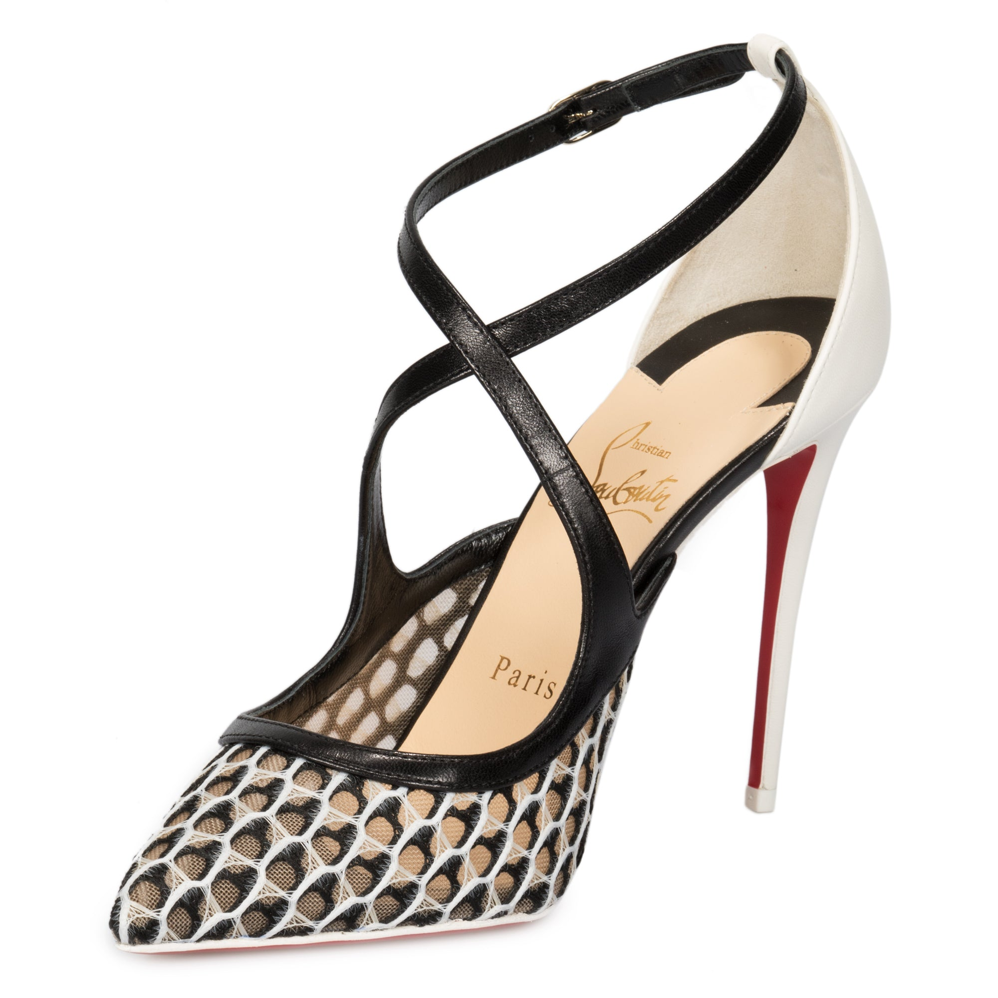 Christian Louboutin Twistissima Rete/Maxi Fishnet 100mm Pump