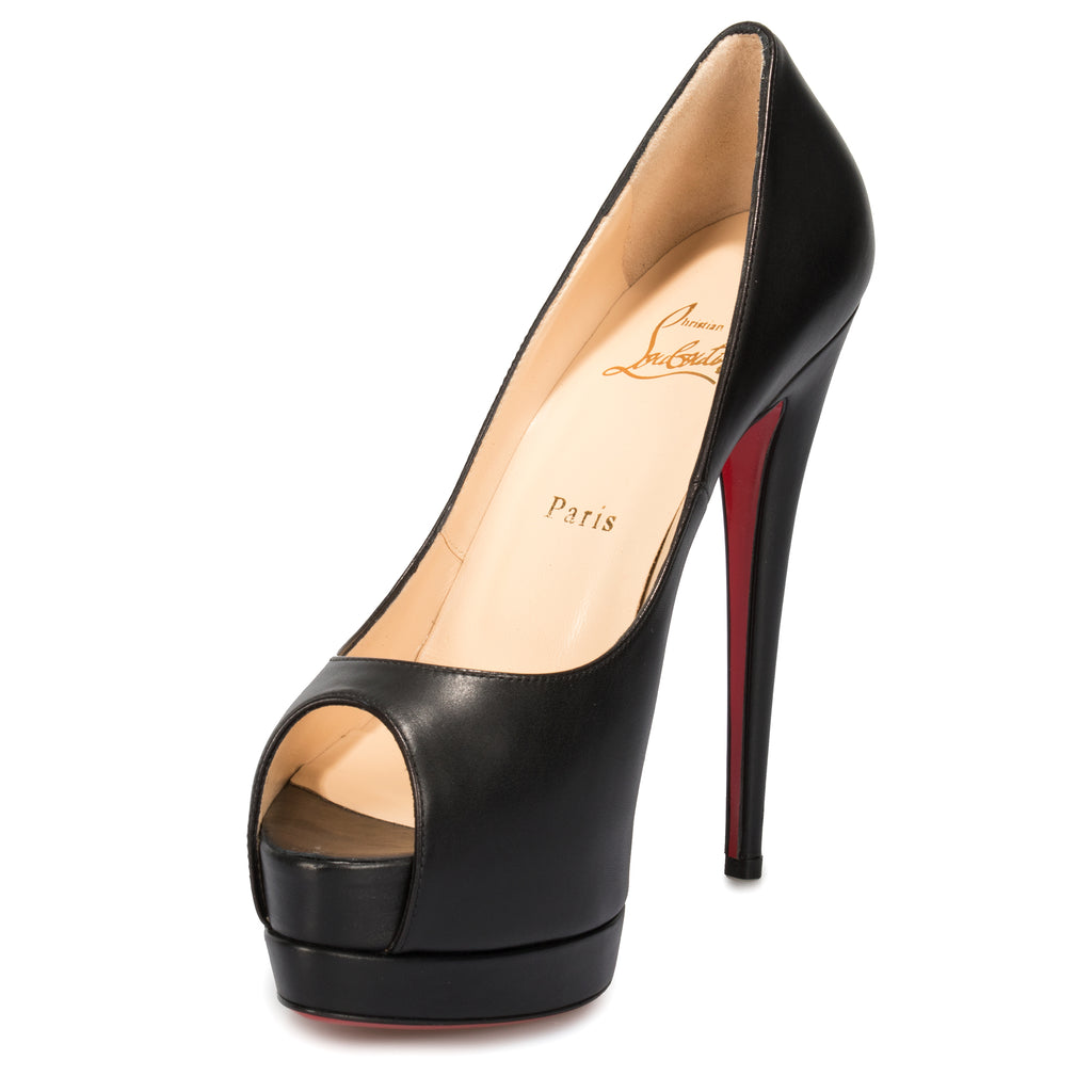 Christian Louboutin Palais Royal Black Nappa Leather 120mm Platform Pump