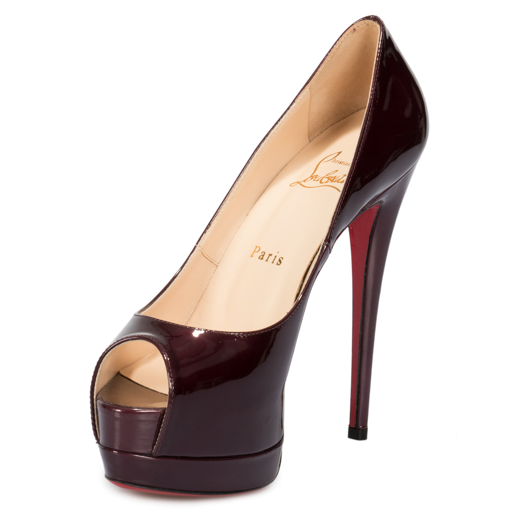 Christian Louboutin Palais Royal Purple Patent Leather 120mm Platform Pump