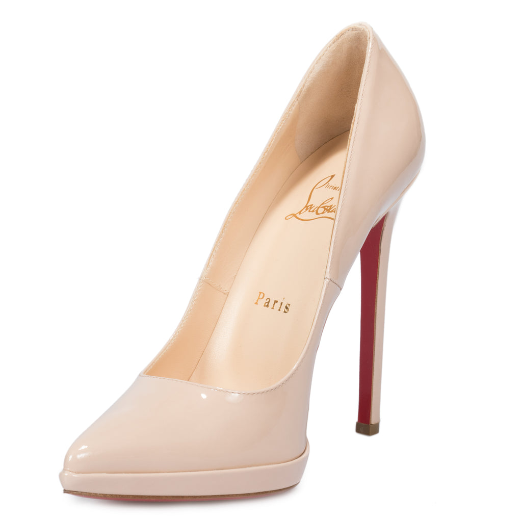 Christian Louboutin Pigalle Nude Patent Leather 120 mm Pump