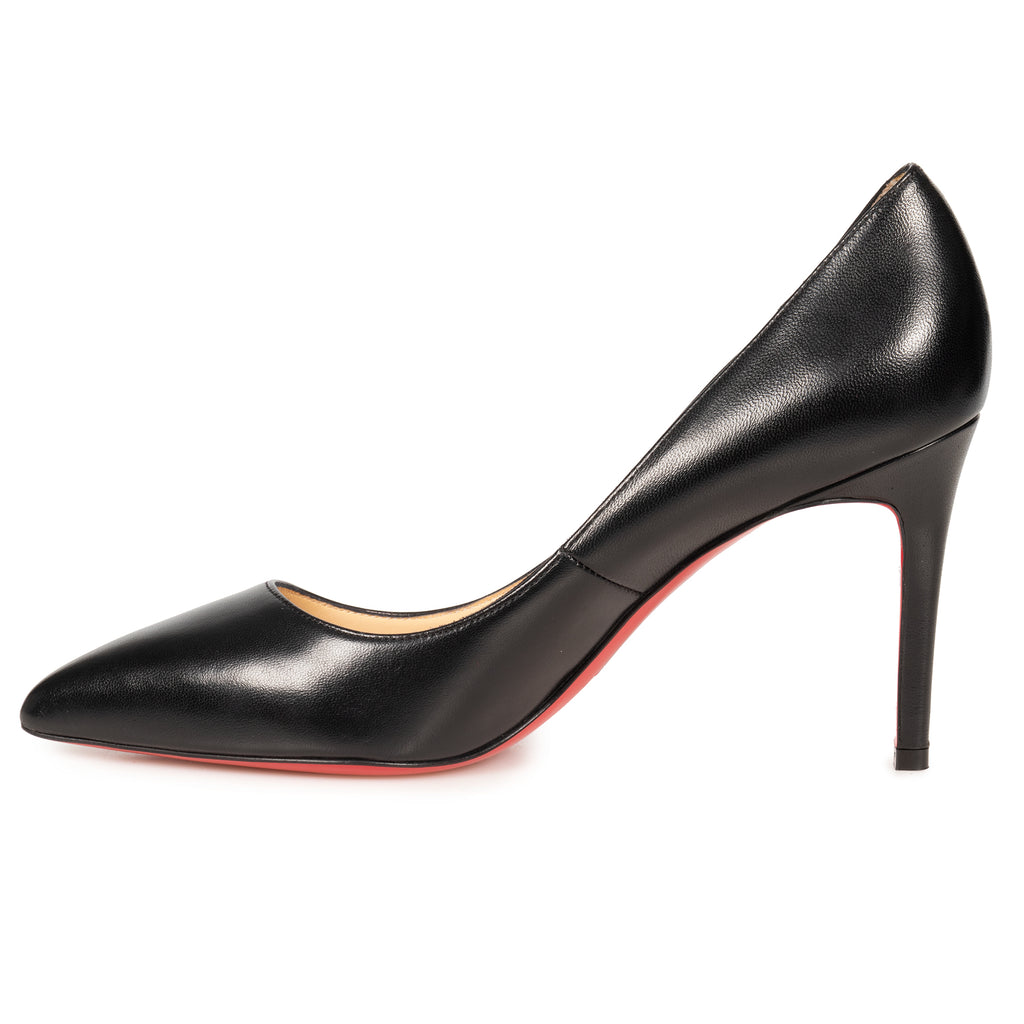 Christian Louboutin Pigalle Black Nappa Leather 85 mm Pumps