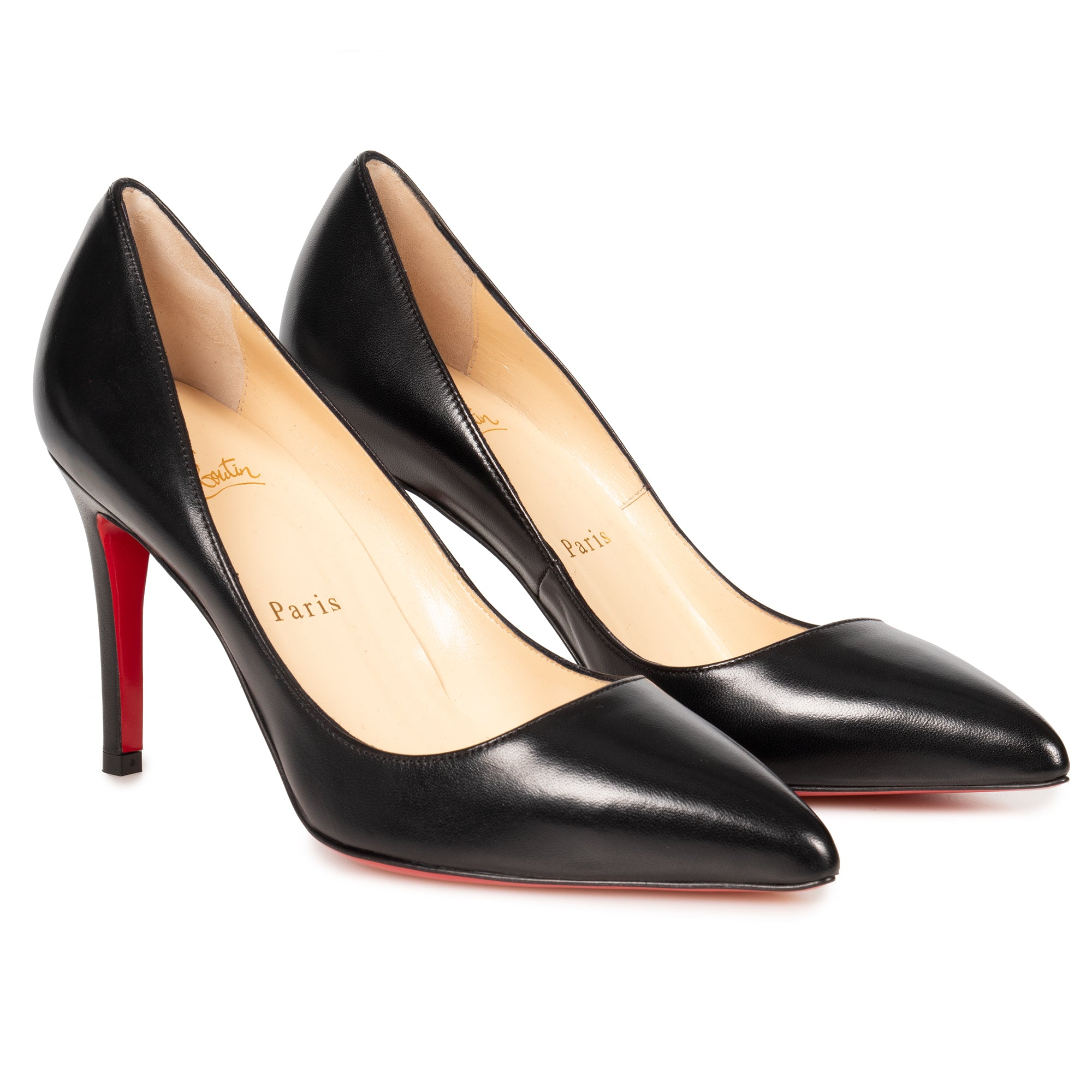 Christian Louboutin Christian Louboutin Pigalle Black Nappa Leather 85 mm Pumps