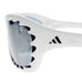 Adidas A980 00 6053 Jaw Sunglasses Polished White with Black Lens for Tweens