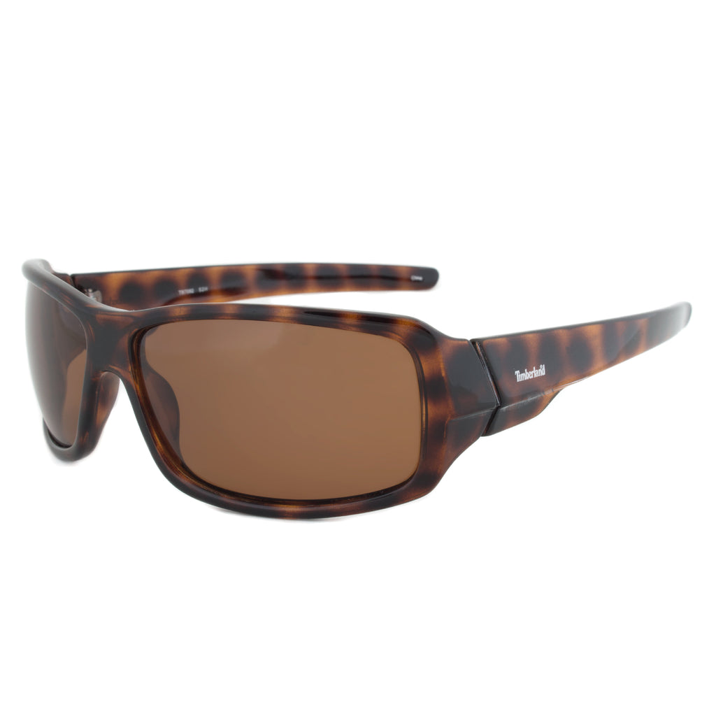 Timberland TB7092 52H Rectangular Sunglasses | Tortoise Brown Frame | Brown Lens