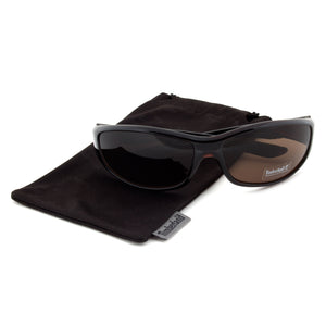 Timberland TB7093 50E Sport Wrap Sunglasses | Dark Brown Frame | Brown Lens